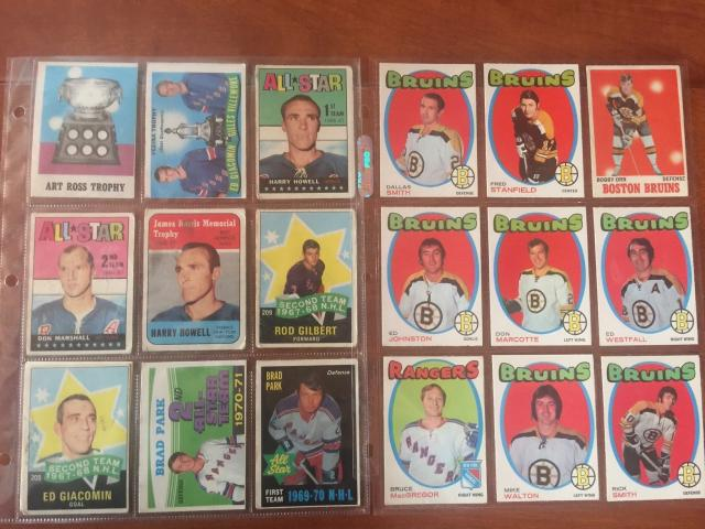 Hockey cards from the 60's and 70's donated by Lloyd Martin.