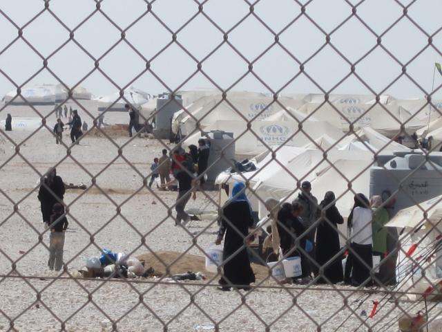 UNHCR tents at Za'atari Camp