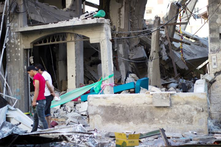 Home of Abu Leila, which was hit by Israeli missiles
