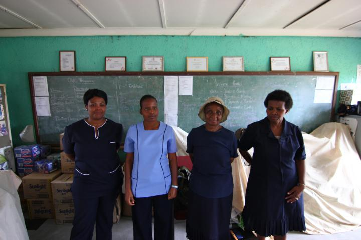 (From left) Phumzile Malaza, Administrator; Monica Chiloane, program supervisor; Albina Maleka, Project Nurse; Elsie Sithebe, Project Leader.