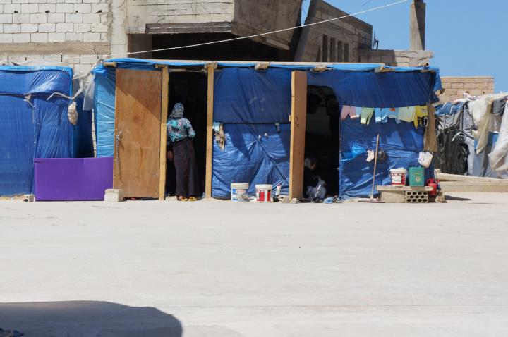 This refugee settlement in southern Lebanon is composed almost entirely of people from the same village in Syria. These sheds are not equipped for winter and will flood with heavy rains.