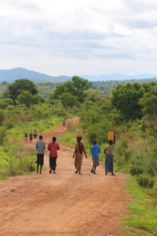 The road in the Opari district, South Sudan.
