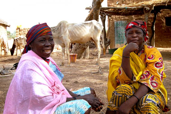 Lebane (left) and Umale (right) are part of a community group in their village in south-west Niger that identifies families who need emergency food assistance.