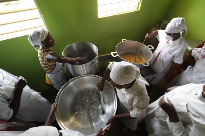 Haiti canning demonstration