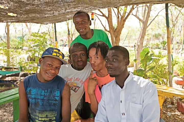 A group portrait of the actors