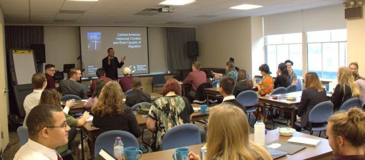Saulo Padilla presenting at seminar